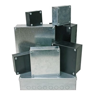 "Adaptable Box 3"" x 3"" x 1.5"" with Knockouts (Galvanised)"
