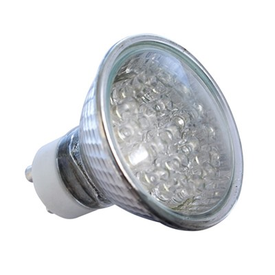 LED LAMP 240V  21LED YELLOW  GU10