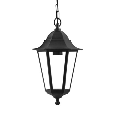 60W ES CEILING LIGHT LANTERN BLK IP44