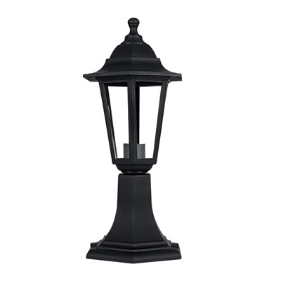 60W ES POST TOP  LANTERN BLK IP44